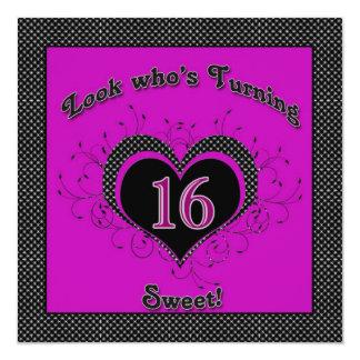 Sweet 16th  Birthday Party Invitations