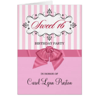 Sweet 16th Birthday Party Invitations Cards