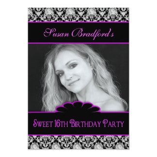 SWEET 16th BIRTHDAY PARTY INVITE - PHOTO INSERT