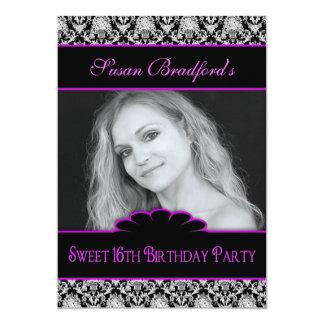 SWEET 16th BIRTHDAY PARTY INVITE - PHOTO INSERT
