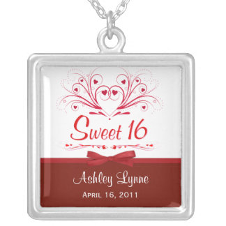 Sweet 16th Birthday Personalized Pendant Necklace