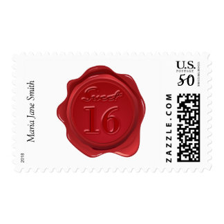 Sweet 16th Birthday Wax Seal Postage
