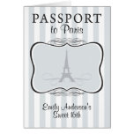 Sweet 16th Passport Invitation Greeting Card