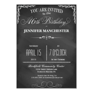Sweet 16th Trendy Birthday Party Invitation
