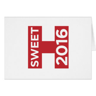 Sweet 2016! greeting card