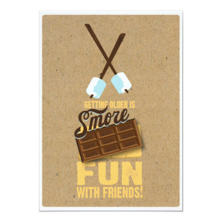 "Sweet 40th Birthday Bonfire Invitations 5"" X 7"" Invitation Card"