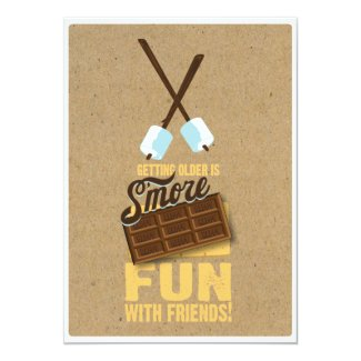 Sweet 75th Birthday Bonfire Invitations
