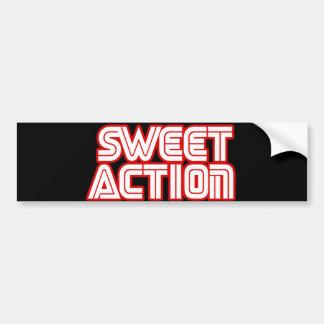 Sweet Action College Retro 80s Humor Bumper Stickers