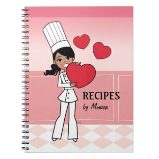 Sweet African American Girl Culinary Notebook