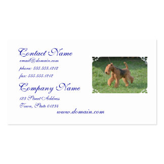 Sweet Airdale Terrier Business Card Template