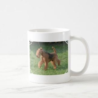 Sweet Airdale Terrier Classic White Coffee Mug