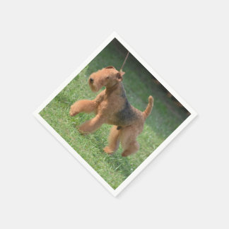 Sweet Airdale Terrier Paper Napkins