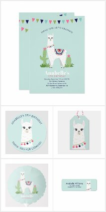 Sweet Alpacas Birthday Party and Gifts