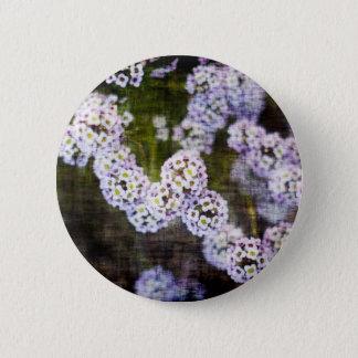 Sweet Alyssum in Grunge Pinback Button