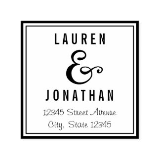 Sweet Ampersand Personalized Rubber Stamp