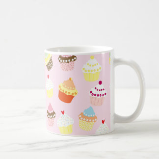 Sweet and Colorful Cupcake Pattern Coffee Mug