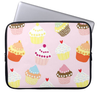 Sweet and Colorful Cupcake Pattern Computer Sleeve
