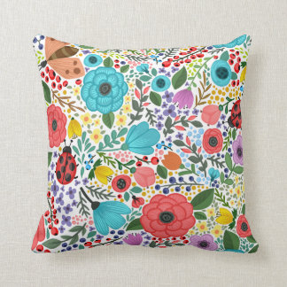 Sweet and Colorful  Floral Ditsy | Throw Pillow