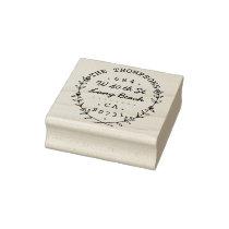 Sweet and Elegant Home Laurels Return Address Rubber Stamp