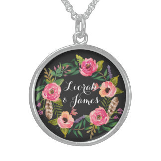 Sweet and romantic watercolor flower posie jewelry