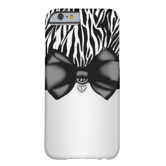 Sweet and Sassy Bowed Zebra Case Barely There iPhone 6 Case