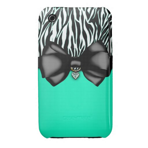Sweet and Sassy Bowed Zebra Print Case Case-Mate iPhone 3 Case