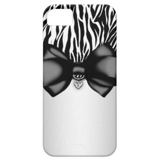 Sweet and Sassy Bowed Zebra Print Case iPhone 5 Covers