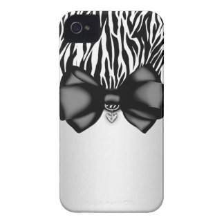 Sweet and Sassy Bowed Zebra Print Case iPhone 4 Cases