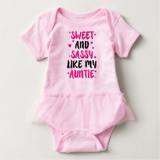 Sweet and Sassy like my auntie funny saying shirt