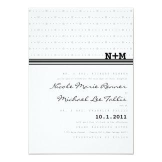 """Sweet and Simple Monogram Wedding Invitation 5"""" X 7"""" Invitation Card"""