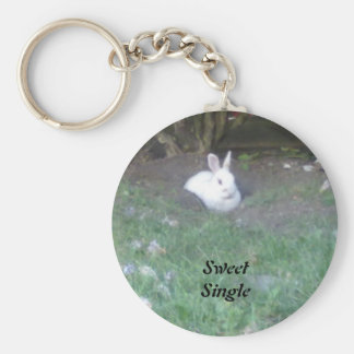 Sweet and Single Basic Round Button Keychain