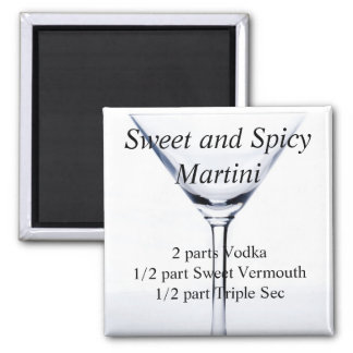 Sweet and Spicy Martini Magnet