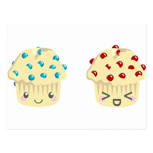 Sweet and Tart Muffin Pair Postcard