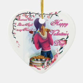 Sweet and Tart to Heart Ceramic Ornament