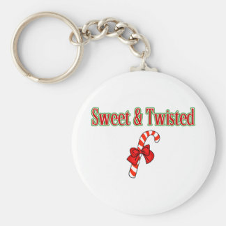 Sweet And Twisted Basic Round Button Keychain