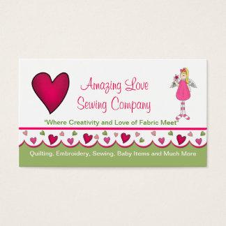 Sweet Angel and Hearts Custom Business Card 2