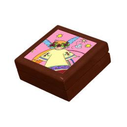 Sweet Angel Ukrainian Folk Art Jewelry Box