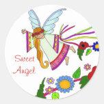 Sweet Angel Ukrainian Folk Art Stickers