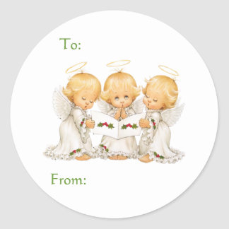 Sweet Angels Christmas Gift Classic Round Sticker