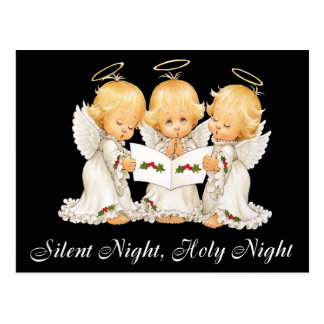 Sweet Angels Silent Night Postcard