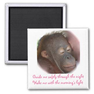 Sweet Animal Baby Prayers Fridge Magnet