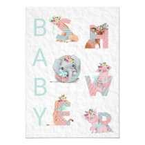*~* Sweet Animal Letters Baby Shower Invitation