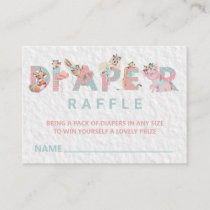 *~* Sweet Animals Letters Baby Diaper Raffle Enclosure Card