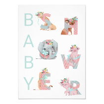 *~* Sweet Animals Letters Baby Shower Invitation