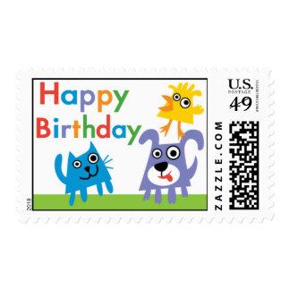 Sweet animals postage stamp