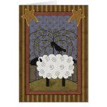Sweet Anniversary Sheep & Raven Card