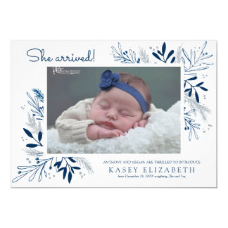 Sweet Arrival Baby Announcement | Winter Branches