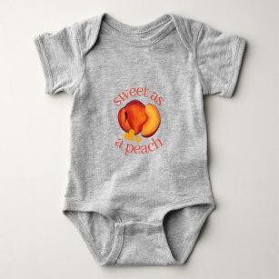 Little Peach Infant Fine Jersey Bodysuit Watercolor Peach Baby Once Piece Jumper Cute and Sweet Little Georgia Peach Baby Shower SAVANNAH