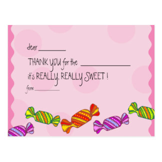 Sweet as a toffee - Kids thank you cards