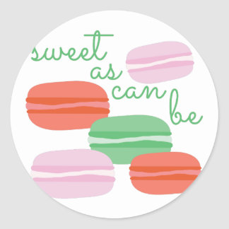 Sweet As Can Be Classic Round Sticker
